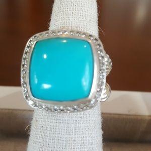 David Yurman Ring Tourquiose/ Diamond pave
